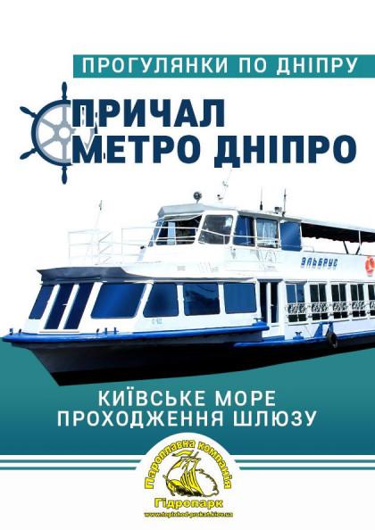 Київське море, проходження шлюзу