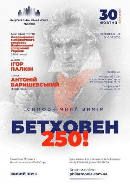 Абонемент №10: БЕТХОВЕН -250! Антоній Баришевський (фортепіано)