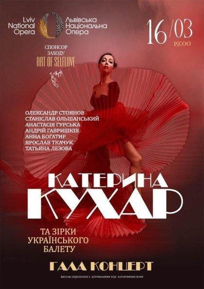 Гала концерт. Катерина Кухар та зірки українського балету